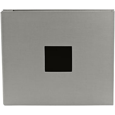 American Crafts™ Cloth D Ring Album With Window, 12in. x 12in., Shadow