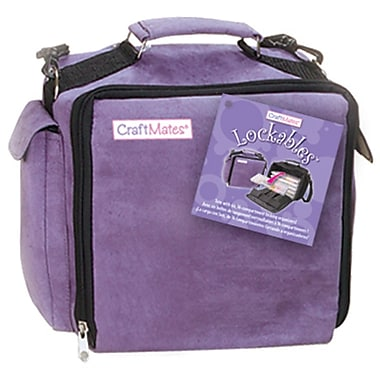 Craft Mates Lockables Ultrasuede Large 9in. x 10 1/2in. x 5 1/2in. Organizer Case, Purple