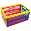 Armada Art Large 9in.x18.75in.x13.5in. Collapsible Crate, Multi Color
