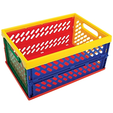 Armada Art Small Collapsible Crate, Multi Color