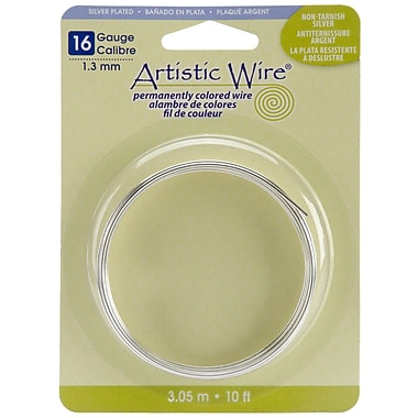 Beadalon® 10' Non-Tarnish Artistic Wire, Silver, 16 Gauge