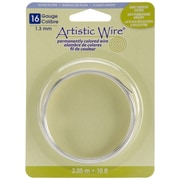 Beadalon AWB-16S 16 Gauge Silver Artistic Wire, 10'