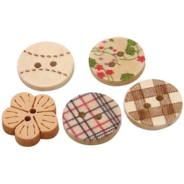 Fabscraps 0.6in. Hand Painted Wooden Buttons, 300/Pack