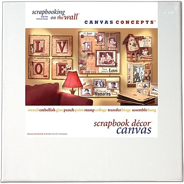 Canvas Concepts 12in. x 12in. Fancy Back Decor Canvas, White