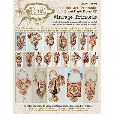 Stampers Anonymous CD204 Beige Darcie's Vintage Trinkets, 12