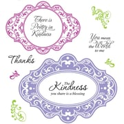 Justrite® Stampers 8 1/2 x 5 1/2 Cling Stamp Set, Kindness