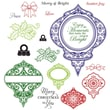 Justrite® Stampers 8 1/2in. x 5 1/2in. Cling Stamp Set, Merry & Bright