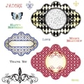 Justrite® Stampers 8 1/2in. x 5 1/2in. Cling Stamp Set, Fleur De Lis