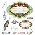 Justrite® Stampers 8 1/2in. x 5 1/2in. Cling Stamp Set, Musical Notes