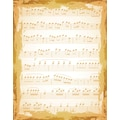 Justrite® Stampers 4 1/2in. x 5 3/4in. Cling Background Stamp, Shabby Music