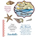 Justrite® Stampers 8 1/2in. x 5 1/2in. Cling Stamp Set, At The Beach Oval Medallions