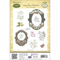 Justrite® Stampers 8 1/2in. x 5 1/2in. Cling Stamp Set, Spring Rose Medallions