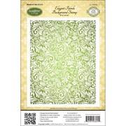 """Justrite® Stampers 4 1/2"""" x 5 3/4"""" Cling Background Stamp, Elegant Fronds"""
