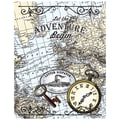 Justrite® Stampers 4 1/2in. x 5 3/4in. Cling Background Stamp, Vintage Travel