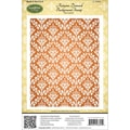 Justrite® Stampers 4 1/2in. x 5 3/4in. Cling Background Stamp, Autumn Damask