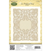 "Justrite® Stampers 4 1/2"" x 5 3/4"" Cling Background Stamp, Lace"