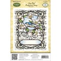 Justrite® Stampers 4 1/2in. x 5 3/4in. Cling Background Stamp, Song Bird