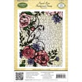 Justrite® Stampers 4 1/2in. x 5 3/4in. Cling Background Stamp, French Rose