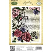 "Justrite® Stampers 4 1/2"" x 5 3/4"" Cling Background Stamp, French Rose"