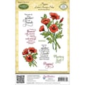 Justrite® Stampers 8 1/2in. x 5 1/2in. Cling Stamp Set, Poppies