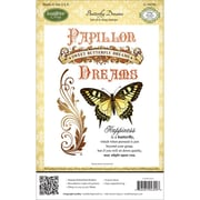Justrite® Stampers 8 1/2 x 5 1/2 Cling Stamp Set, Butterfly Dreams 6pc