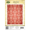 Justrite® Stampers 4 1/2in. x 5 3/4in. Cling Background Stamp, Antique Damask