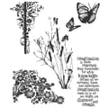 Stampers Anonymous Tim Holtz 7in. x 8 1/2in. Cling Stamp Set, Nature's Discovery