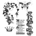 Stampers Anonymous Tim Holtz 7in. x 8 1/2in. Cling Stamp Set, Fairytale Frenzy