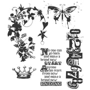 "Stampers Anonymous Tim Holtz 7"" x 8 1/2"" Cling Stamp Set, Fairytale Frenzy"