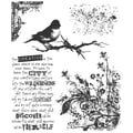 Stampers Anonymous Tim Holtz 7in. x 8 1/2in. Cling Stamp Set, Urban Tapestry