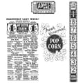 Stampers Anonymous Tim Holtz 7in. x 8 1/2in. Cling Stamp Set, At The Movies