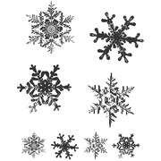 """Stampers Anonymous Tim Holtz 7"""" x 8 1/2"""" Cling Stamp Set, Grunge Flakes"""