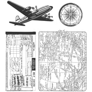 "Stampers Anonymous Tim Holtz 7"" x 8 1/2"" Cling Stamp Set, Air Travel"