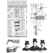 Stampers Anonymous Tim Holtz 7 x 8 1/2 Cling Stamp Set, Steampunk