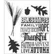 """Stampers Anonymous Tim Holtz 7"""" x 8 1/2"""" Cling Stamp Set, Thankful Silhouettes"""
