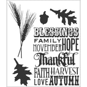 Stampers Anonymous Tim Holtz 7 x 8 1/2 Cling Stamp Set, Thankful Silhouettes