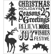 "Stampers Anonymous Tim Holtz 7"" x 8 1/2"" Cling Stamp Set, Seasons Silhouettes"