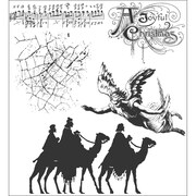 "Stampers Anonymous Tim Holtz 7"" x 8 1/2"" Cling Stamp Set, Joyful Song"