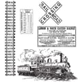 Stampers Anonymous Tim Holtz 7in. x 8 1/2in. Cling Stamp Set, On The Railroad