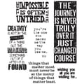 Stampers Anonymous Tim Holtz 7in. x 8 1/2in. Cling Stamp Set, Words For Thought