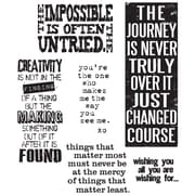 "Stampers Anonymous Tim Holtz 7"" x 8 1/2"" Cling Stamp Set, Words For Thought"