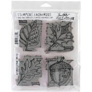 "Stampers Anonymous Tim Holtz 7"" x 8 1/2"" Cling Stamp Set, Autumn Blueprint"