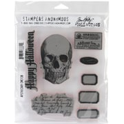 "Stampers Anonymous Tim Holtz 7"" x 8 1/2"" Cling Stamp Set, Apothecary"