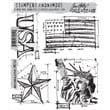 Stampers Anonymous Tim Holtz 7in. x 8 1/2in. Cling Stamp Set, Americana Blueprint