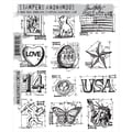 Stampers Anonymous Tim Holtz 7in. x 8 1/2in. Cling Stamp Set, Mini Blueprints