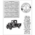 Stampers Anonymous Tim Holtz 7in. x 8 1/2in. Cling Stamp Set, Elements Of Time