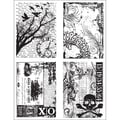 Stampers Anonymous Tim Holtz 7in. x 8 1/2in. Cling Stamp Set, Ornate Collages