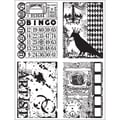 Stampers Anonymous Tim Holtz 7in. x 8 1/2in. Cling Stamp Set, Creative Collages