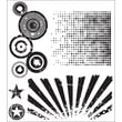 Stampers Anonymous Tim Holtz 7in. x 8 1/2in. Cling Stamp Set, Psychedelic Grunge