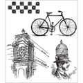 Stampers Anonymous Tim Holtz 7in. x 8 1/2in. Cling Stamp Set, Pen & Pencil